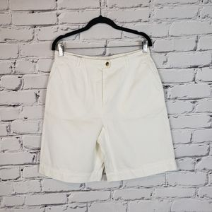 Escada Sport White Cotton Wide Leg Shorts